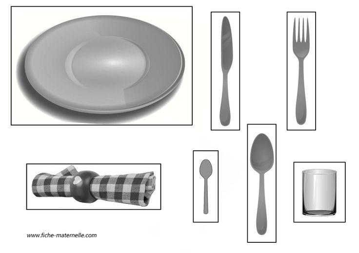 apprendre mettre la table garderie daycare guarderia. Black Bedroom Furniture Sets. Home Design Ideas
