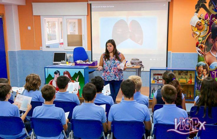 Los alumnos de 1º #SecundariaISP han participado en una charla organizada por el Centro de Salud Pública de #Benicarló que forma parte del proyecto educativo de prevención del tabaquismo en centros docentes de la Comunidad Valenciana.