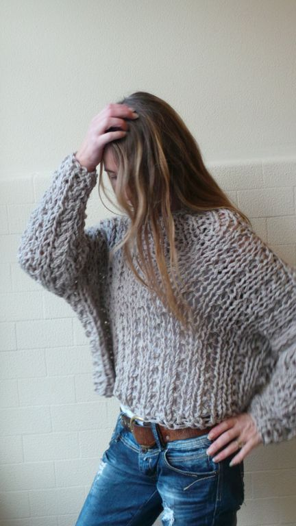 VEGAN Friendly 100 acrylic chunky comfy sweater by ileaiye on Etsy,