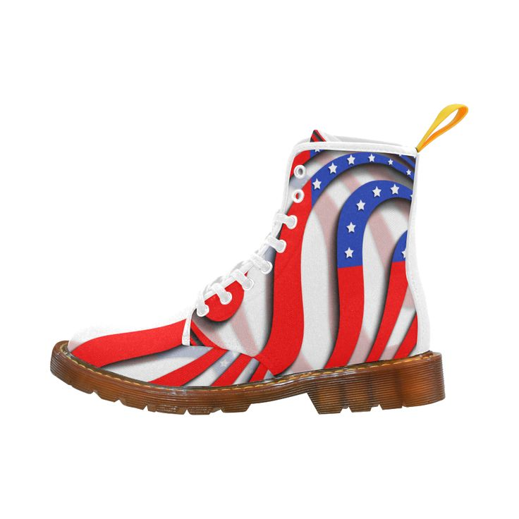 Flag of United States of America Martin Boots For Men Model 1203H