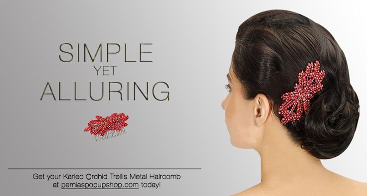Accessories by Karleo | Orchid Trellis Metal Haircomb