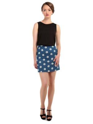 Tisha Daisy Denim Skirt
