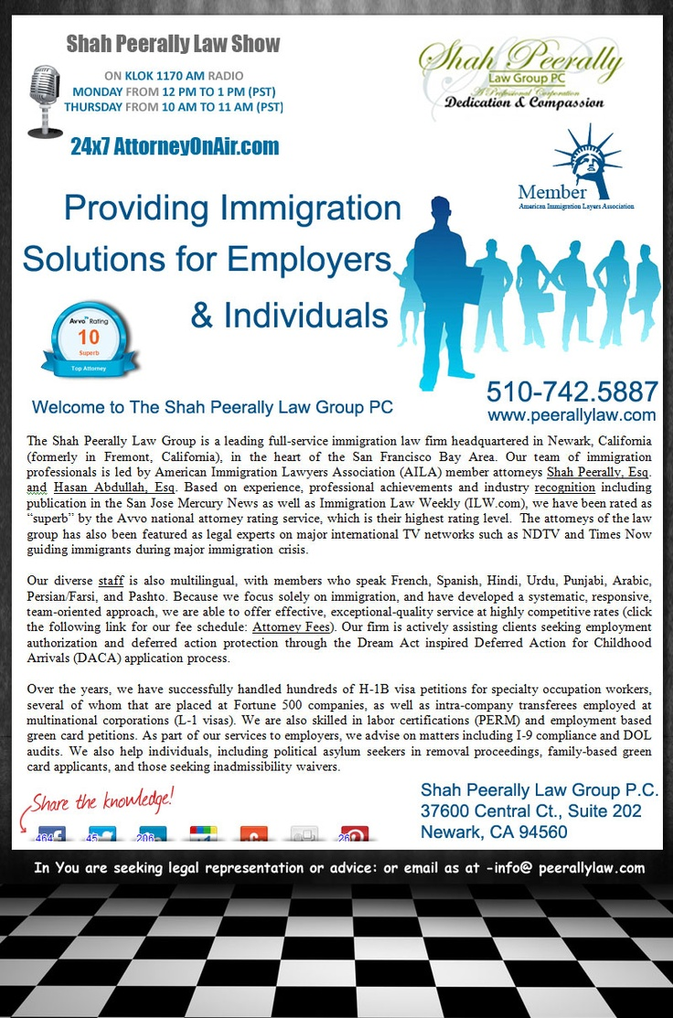 Best immigration lawyer usa The Shah Peerally Law Group is a leading full-service immigration