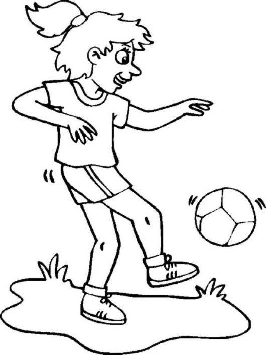 9 best Colouring pages for Football images on Pinterest | Coloring ...