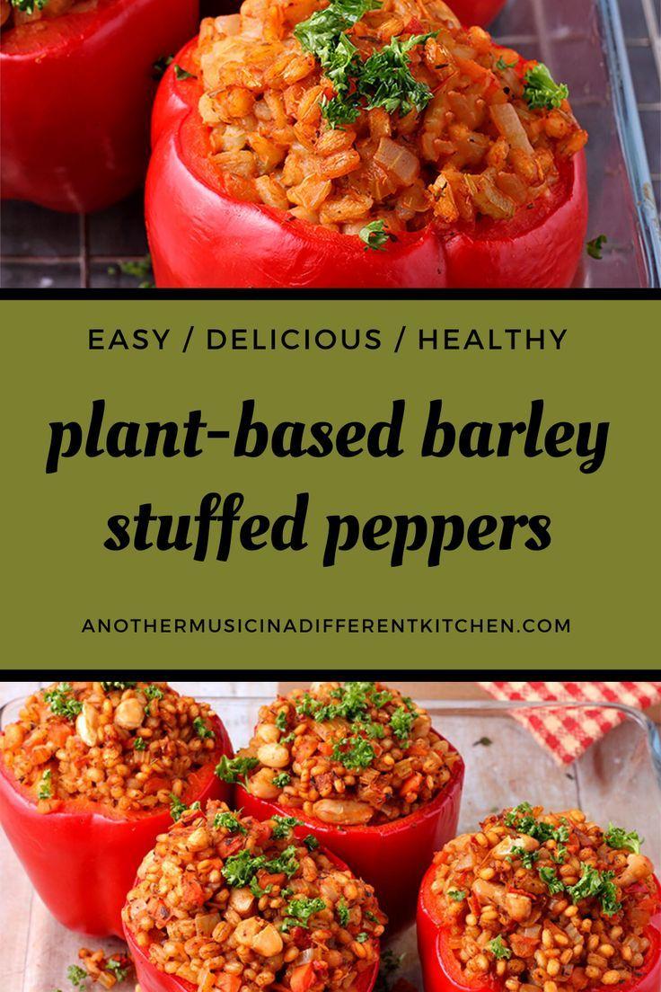 Easy To Please Vegan Stuffed Bell Peppers Recipe In 2020 Stuffed Peppers Stuffed Bell Peppers Oil Free Vegan Recipes