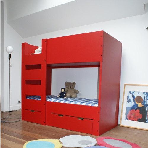 les 15 meilleures images propos de lits superpos s sur pinterest ikea superpositions et tiroirs. Black Bedroom Furniture Sets. Home Design Ideas