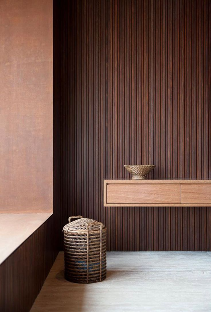 Modern wood panelling