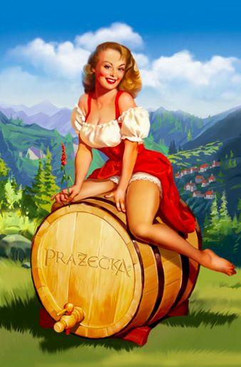 beer #pinup #poster #art #vintage