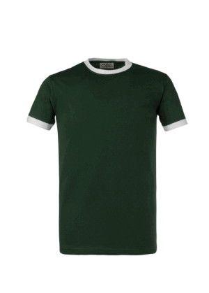 Maglia T-Shirts Cotone 150 g Manica Corta 10 Pezzi Verde Bianco