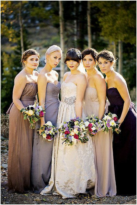 These mismatched bridesmaid dresses are so flawless | Pepper Nix Photography