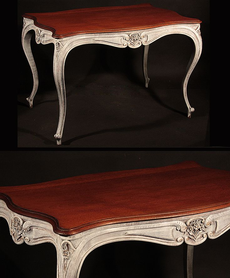 table from France (shabby chic) more www.empire-antyki.com