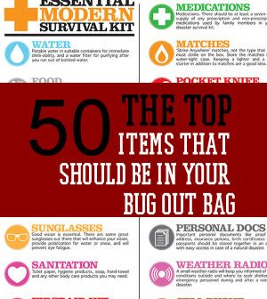 The Top 50 Items That Should Be In Your Bug Out Bag | #survivallife www.survivallife.com
