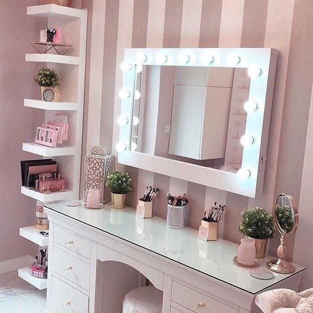 Audrey Hollywood Mirror In White Gloss 100 X 80cm In 2020