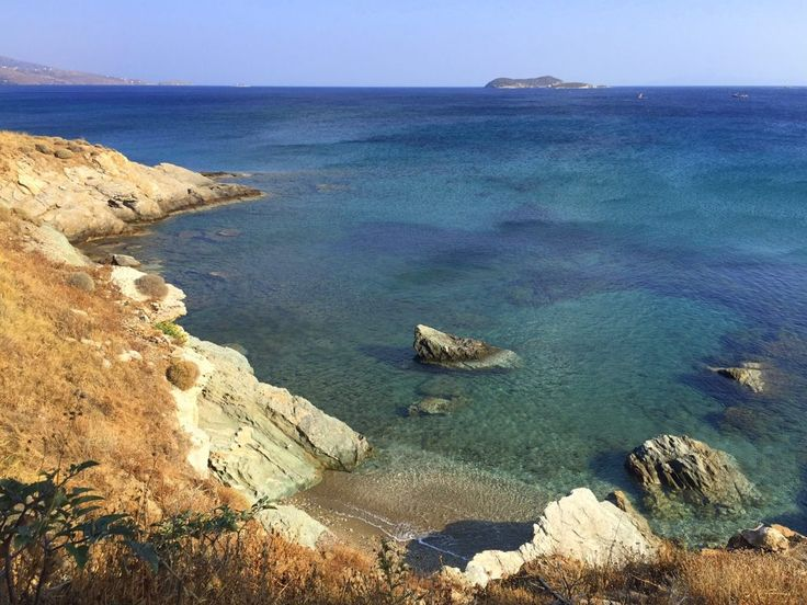 A beautiful beach just outside Gavrio on the island of Andros