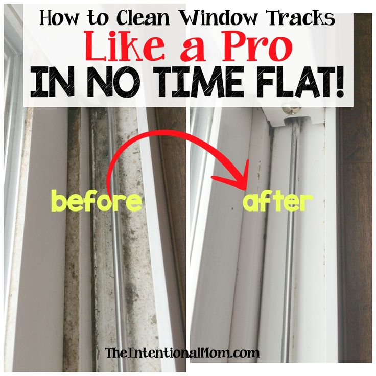 Is there anything more annoying to clean than window tracks? I don't really think so. But, there is a trick that leaves you with no scrubbing and NO TIME!!!