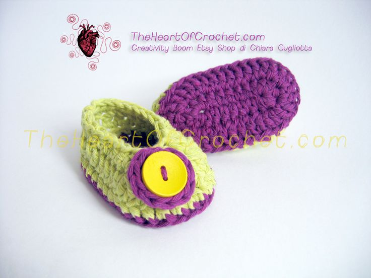 Ballerine calze scarpette pantofole neonata cotone verde viola - Ballet shoes, socks, slippers newborn green violet recycled cotton di CreativityBoom su Etsy