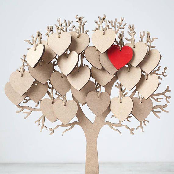 Wedding tree wishes guest book alternative 5th anniversary