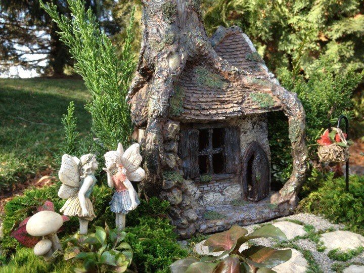 743 best Fairy Houses & Fairy Gardens images on Pinterest | Fairies ...