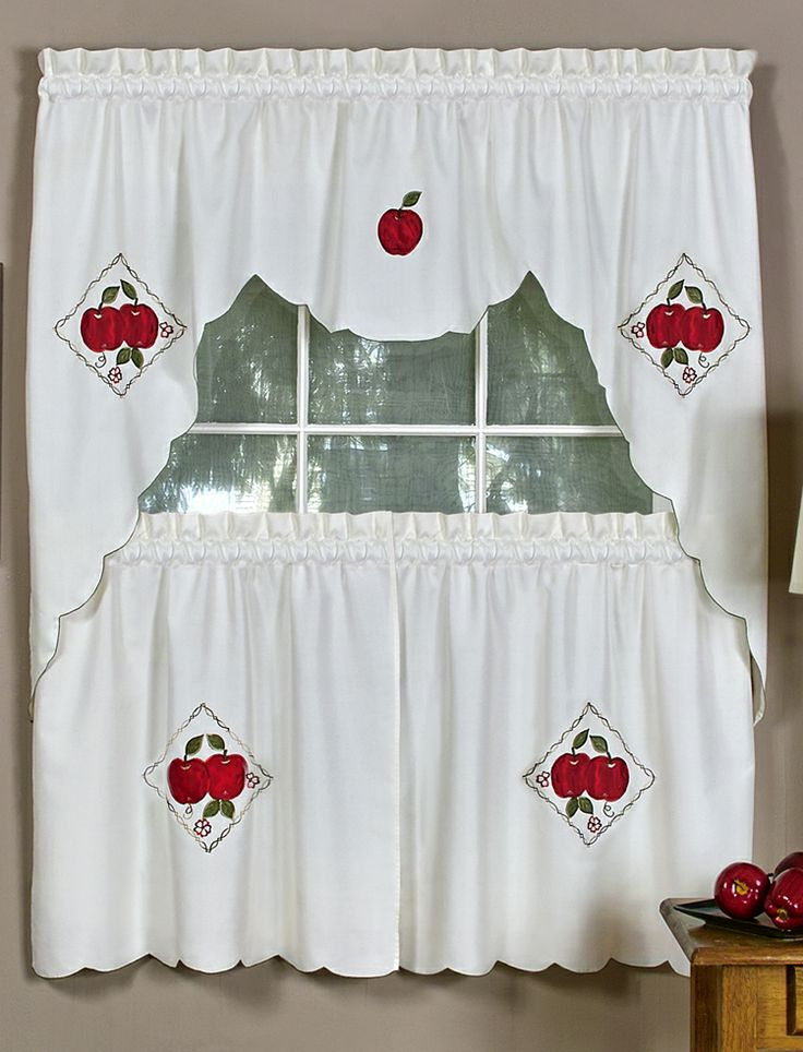 Delicious Curtains Are A Complete Tier U0026 Swags Set, Each Package Contains  One Pair Of