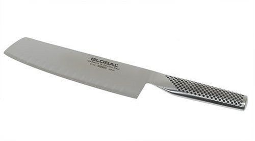 Global G-56 - 7 inch, 18cm Vegetable Hollow Ground Knife by Global. $122.95. Lifetime warranty against defects and breakage. 7-inch Hollow Ground vegetable knifeby Global. Crafted of high-tech molybdenum/vanadium stainless steel. Tapered handle molded for lightweight comfort, dimpled for safe grip. Ice-tempered cutting edge retains razor sharpness. Amazon.com                Meticulously crafted for superior all-around performance, Global's kitchen knives leave no d...