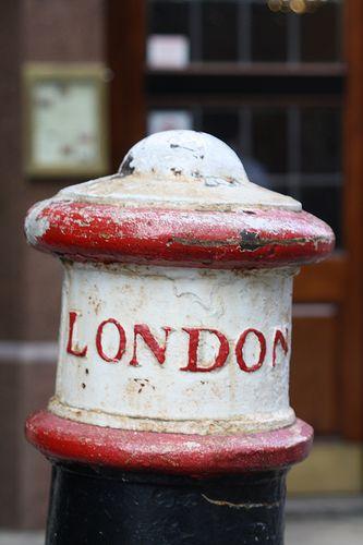 London - traffic bollard, Rising Sun Court.