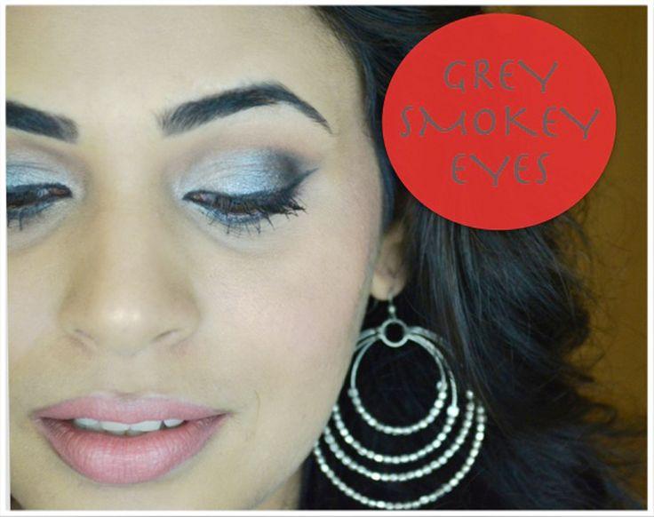 Grey smokey eye... Tutorial on youtube http://youtu.be/tyQra6V0Gbw