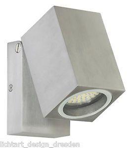RANEX 5000.488 LORNA LED WANDLEUCHTE 1x4W ALUMINIUM GARTEN AUßENLAMPEN LAMPEN