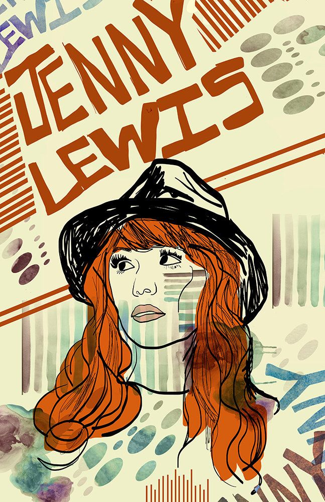 Jenny Lewis Poster - Limited Edition of 100 by DosePosterArt on Etsy https://www.etsy.com/listing/205234475/jenny-lewis-poster-limited-edition-of