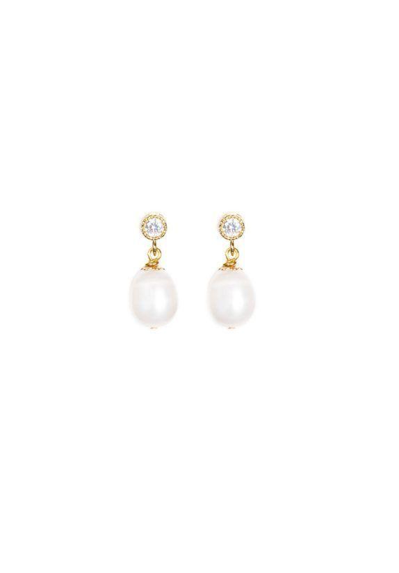 BELLA Pearl Drop Earrings 1