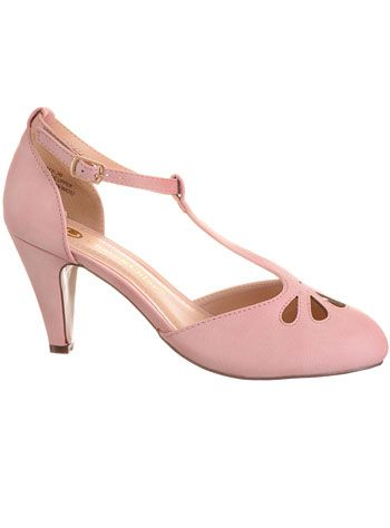 Take the Cake T-Strap Heels in Petal Pink at PLASTICLAND (also in 5 other colors)