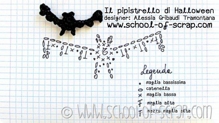 Scuola di uncinetto: facciamo insieme il pipistrello di Halloween