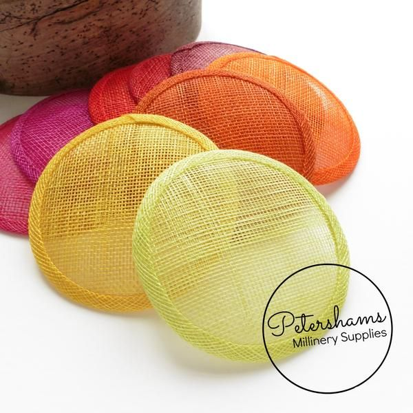 Making Craft Sinamay Millinery Hat Base Fascinator Round DIY Material Supplies