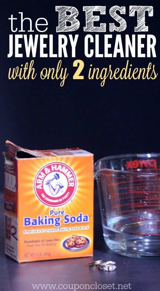 Try this easy Homemade Jewelry Cleaner - just 2 ingredients - frugal and fast!