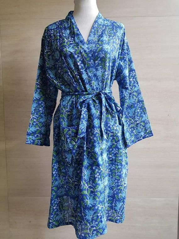 Check out this item in my Etsy shop https://www.etsy.com/au/listing/555930110/cotton-robe-bathrobe-kimono-indian-block
