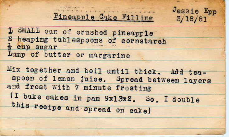 yesterdish.com » Pineapple Cake Filling