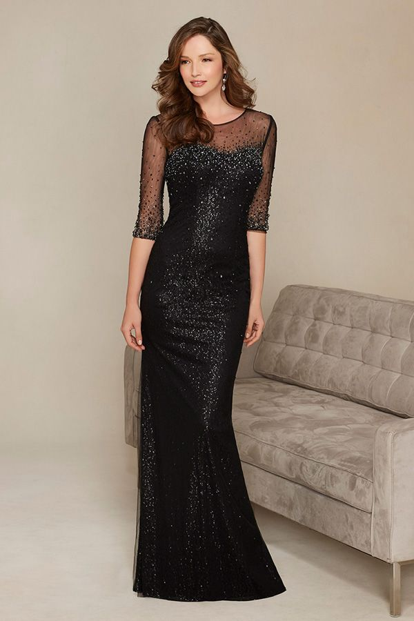 a8831b38bcc Charming Tulle Jewel Neckline Floor-length Mother of the Bride Dresses with  Delicate Rhinestones
