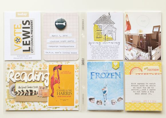 Project Life | April 2014 | One (plus extreme Excel nerdiness) | One Little Bird Designs