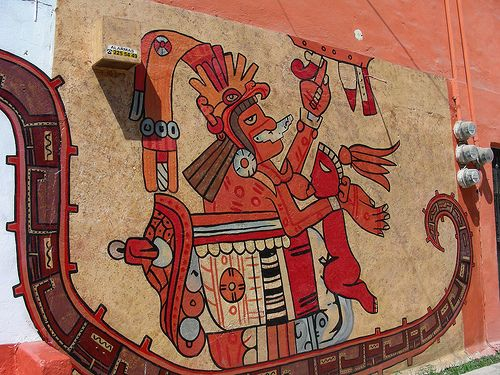 71 best images about aztec references on pinterest for Aztec mural painting