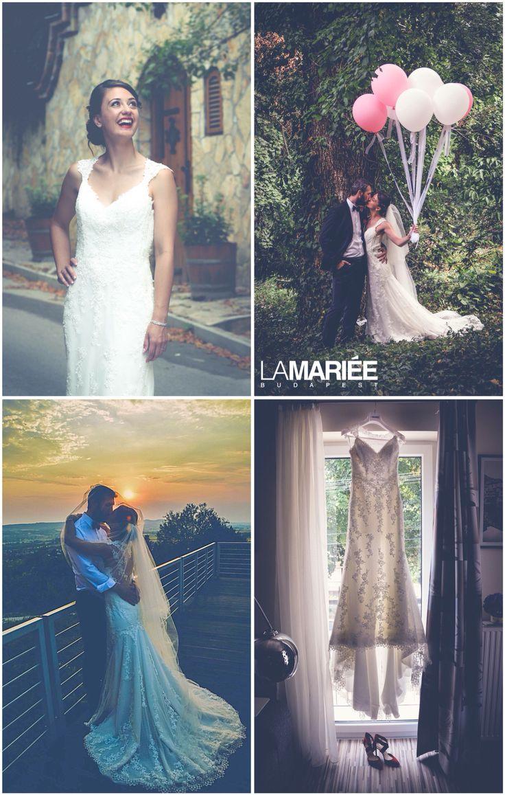 Laren esküvői ruha - 2016 Pronovias kollekció - Ágnes menyasszony - La Mariee Budapest szalon http://lamariee.hu/eskuvoi-ruha/pronovias/laren_2