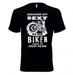 Tričko ,,Jsem sexy biker #trickaspotiskem, #potisktricek, #trickosvlastnimpotiskem, #vlastnimotivnatriku, #sexytrika, #profesnitrika, #trickasprofesi,