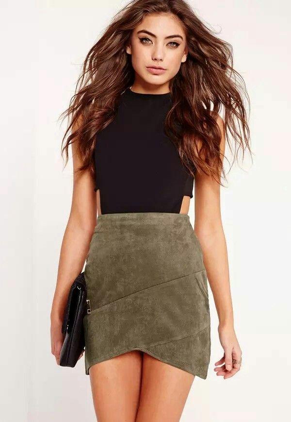 Pin on Fashion: Brown/Tan/Khaki Green Skirts--outfits