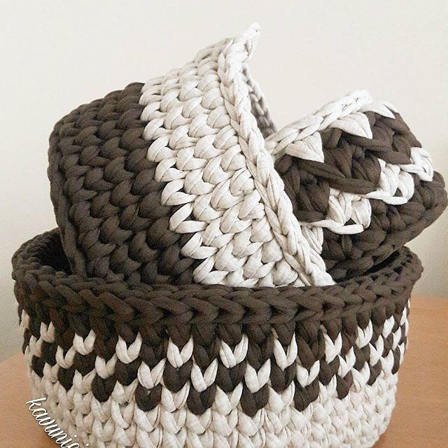 GrafikerEsrikAklimaNeEserse ( @kavunici_tasarim ) Media Kahve tadinda, aksam ustumuz olsun. #örgüsepet#sepet#supla#paspas#crochet#crochetbasket#crochet...