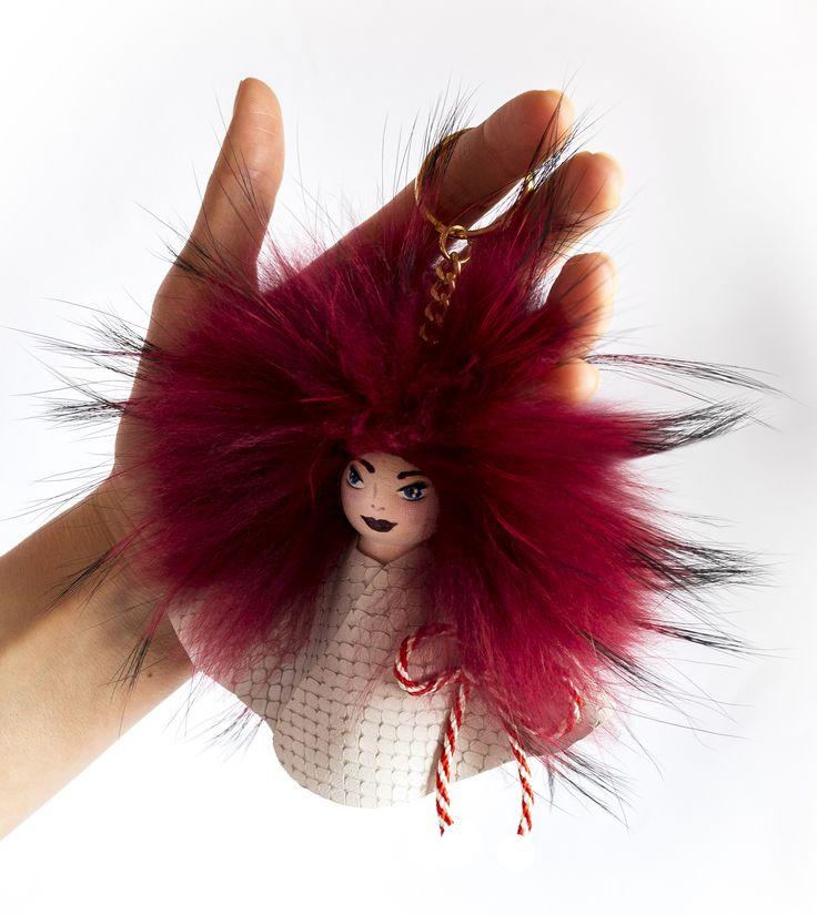 Have a happy spring, everyone! #everbrildolls #martisor #spring #bagcharm #handmade #bagbug #furcharm #monster #keychain #spring #doll #fur