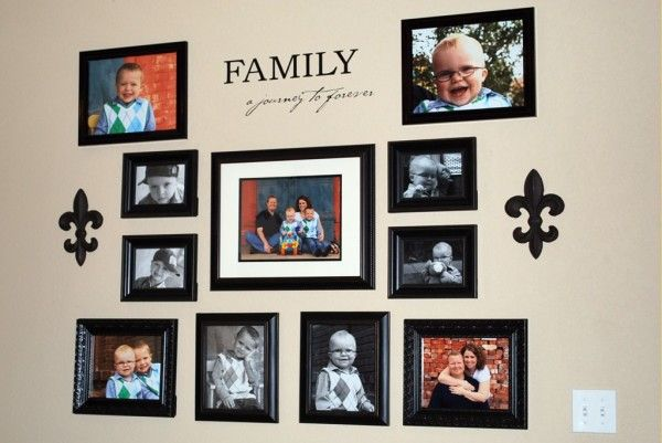 Ideas To Display Family Photos On Your Walls5 600x401 How to hang family photos on wall