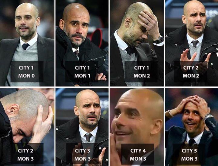 Manchester City 5 Monaco 3 💙⚽️⚽️⚽️⚽️⚽️