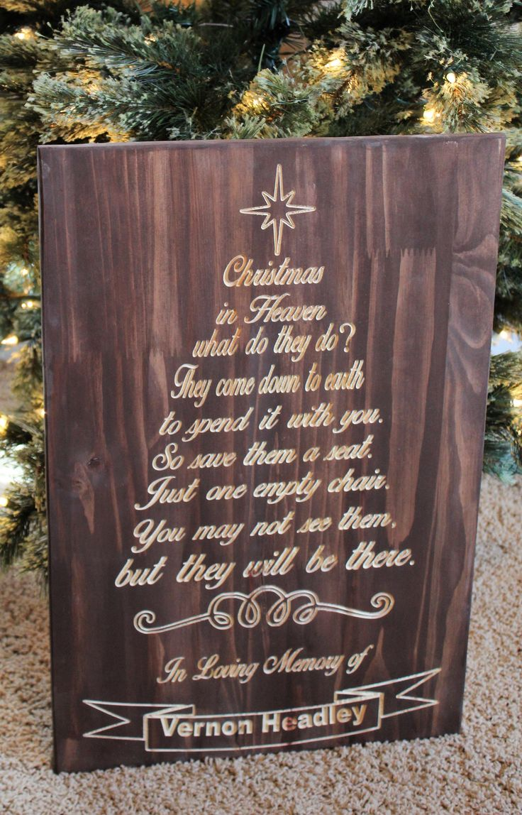 Christmas Wooden Christmas Memories Hanging Sign Sold Out - Christmas in heaven wooden sign personalized engraved plaque in loving memory sign