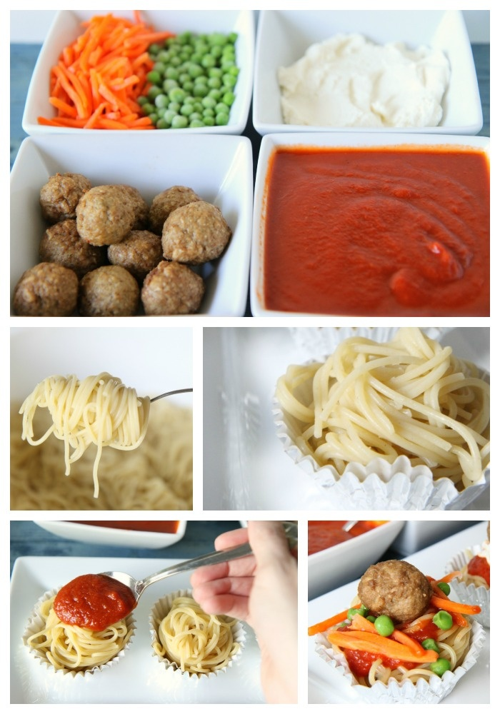 How to make a spaghetti toppings bar for a fun kid food