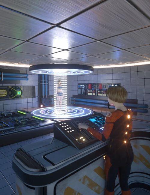 3D Model - Sci-Fi Transporter Room Free Download | web-design in