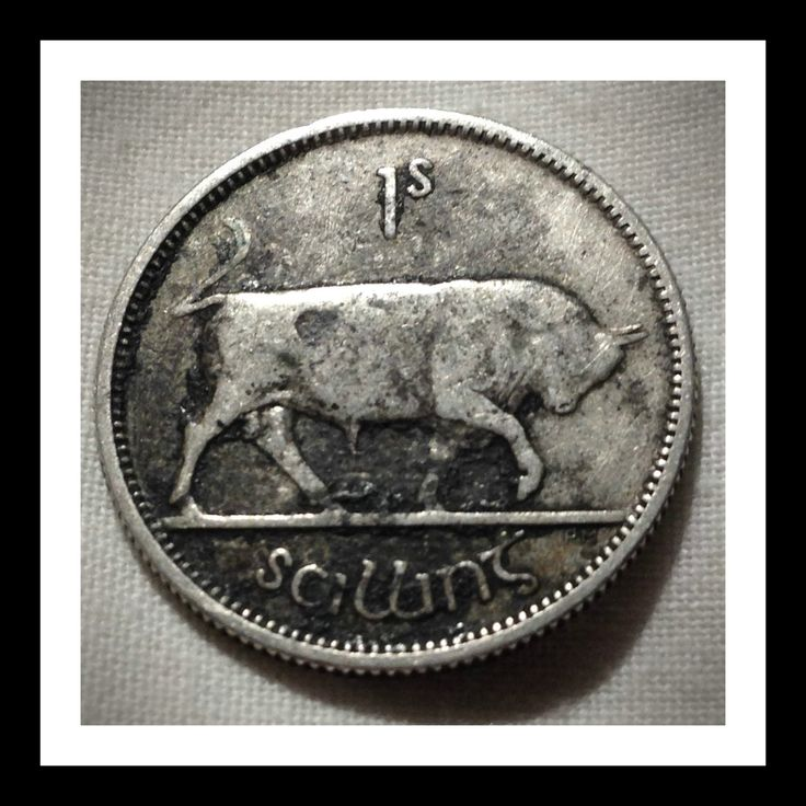 Ireland 1 shilling 1928 Condition VG - F.  The legend on the coin's obverse is Saorstat Eireann (Irish Free State) and 1928 was the first year that the Republic of Ireland minted coins.   For this and more Irish coins, please visit AlbaCoins.com  #ireland #coins