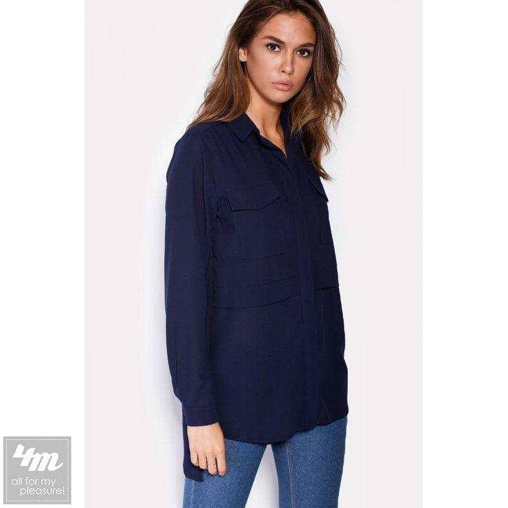 Рубашка Cardo «HOLDEN» Для выбора цвета и размера - перейдите в интернет-магазин: http://lnk.al/2Boo Состав: Полиэстер - 100% (креп-шифон)  Темно-синяя рубашка хорошо вписывается в комплекты повседневной и деловой одежды. Сшитая из креп-шифона, эта рубашка застегивается пуговицами под планкой спереди. Нагрудные карманы изделия прикрываются небольшими клапанами, а длинные рукава застегиваются пуговицами на манжетах. Удлиненная спинка и горизонтальные планки рубашки выделяют ее из всех…